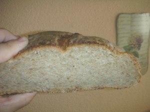 Pan de Centeno, Trigo, Alcaravea y Comino, por dentro.